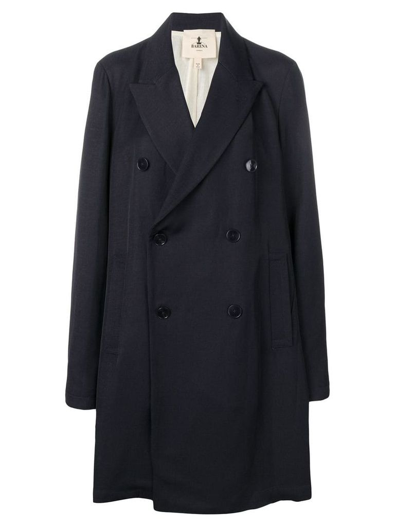 Barena double breasted coat - Blue