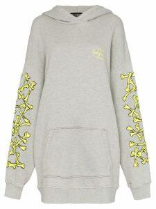 Amiri oversized logo sleeve hoodie - Grey