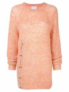 Alice Mccall front split jumper - Orange