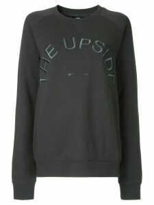 The Upside logo embroidered sweater - Grey