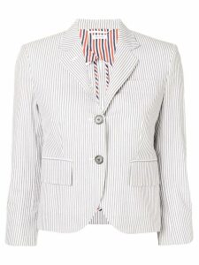 Thom Browne Half-Lined Seersucker Sport Coat - Grey