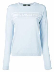Karl Lagerfeld logo pullover - Blue