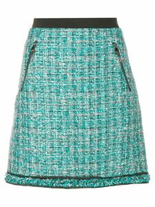 Karl Lagerfeld A-line tweed skirt - Blue