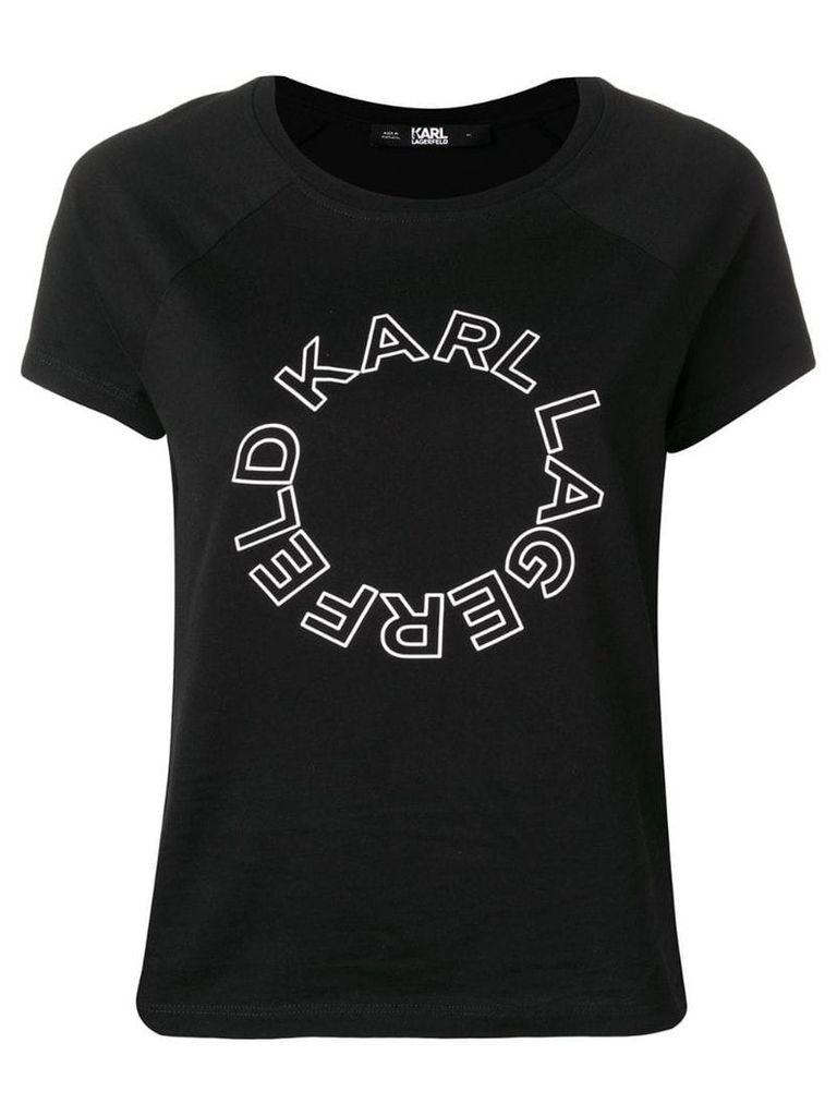 Karl Lagerfeld circle logo T-shirt - Black
