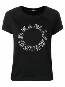 Karl Lagerfeld circle logo T-shirt - Black