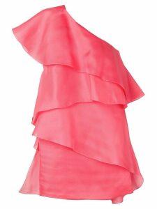 Lanvin one-shoulder draped wrap dress - Pink