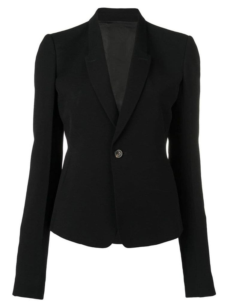 Rick Owens classic fitted blazer - Black