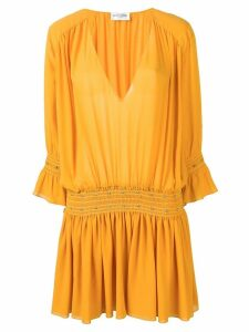 Saint Laurent studded Georgette dress - Yellow