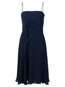 Emporio Armani gathered waist dress - Blue