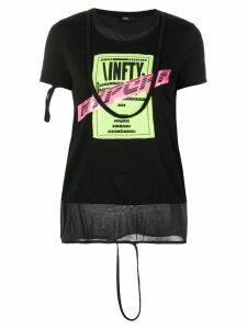 Diesel layered T-shirt - Black