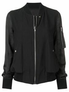 Rick Owens zipped bomber jacket - Black