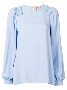 Nº21 ruffle trim blouse - Blue