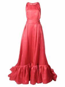 Carolina Herrera polka dot flared gown