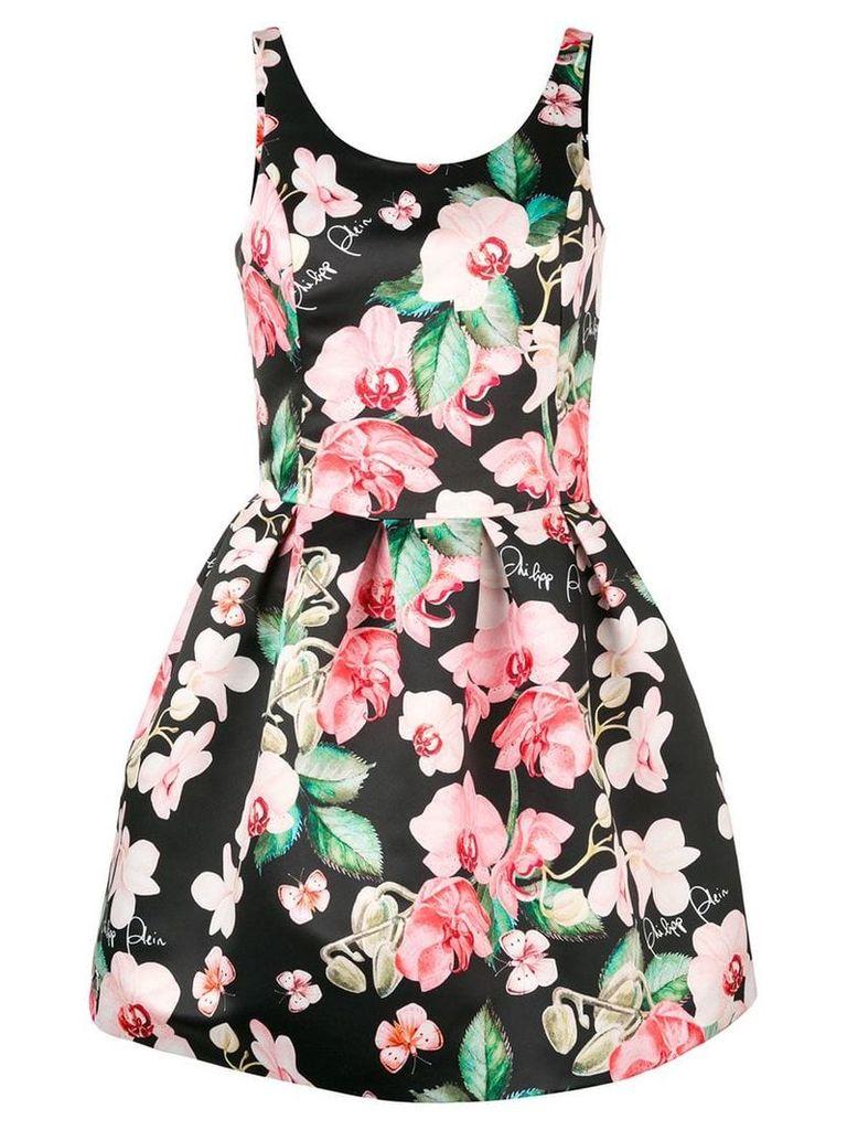 Philipp Plein floral mini dress - Black