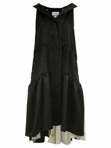 Koché double-breasted long dress - Black