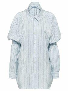 Prada shoulder straps pongé shirt - Blue