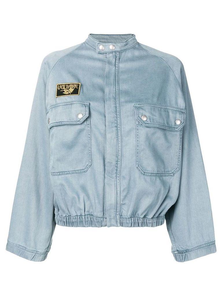 Zadig & Voltaire elasticated hem jacket - Blue