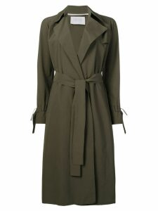 Harris Wharf London trench wrap style coat - Green