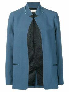 Zadig & Voltaire open front blazer - Blue