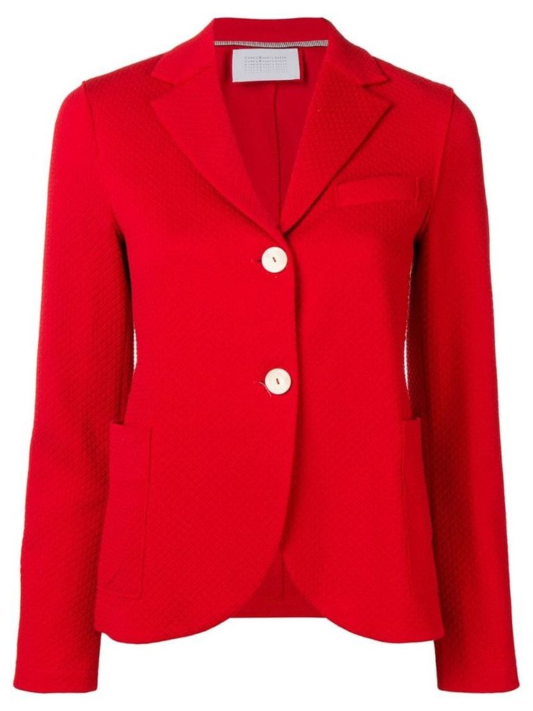 Harris Wharf London waffle knitted blazer jacket - Red