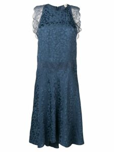 Zadig & Voltaire lace inserts shift dress - Blue