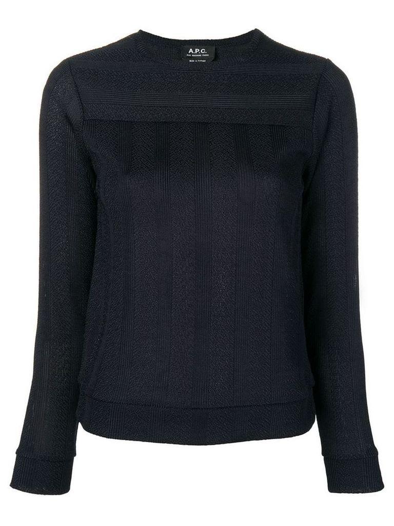 A.P.C. striped pullover - Blue