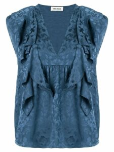 Zadig & Voltaire ruffle-trimmed top - Blue