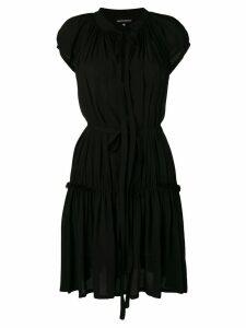 Ann Demeulemeester tiered dress - Black