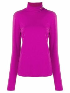 Calvin Klein 205W39nyc logo embroidered turtleneck sweatshirt - Purple