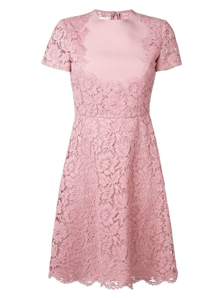 Valentino heavy lace dress - Pink