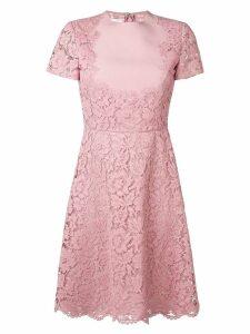 Valentino heavy lace dress - Pink