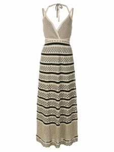 M Missoni Fantasia halter maxi dress - Metallic