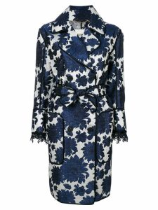 Bazar Deluxe floral belted coat - Blue