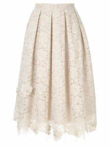 Onefifteen pleated lace skirt - White