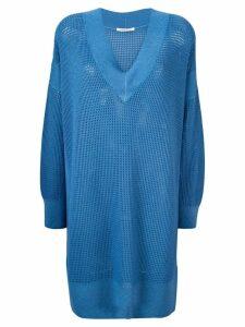 Agnona mesh dress - Blue