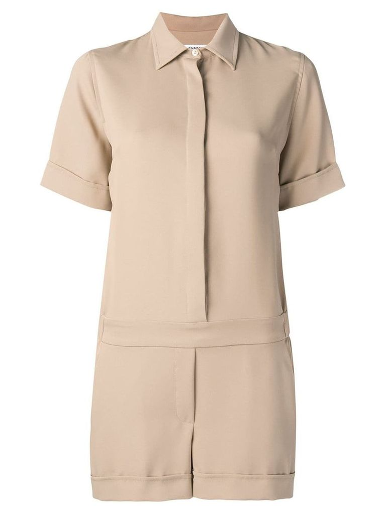 P.A.R.O.S.H. shirt style playsuit - Neutrals