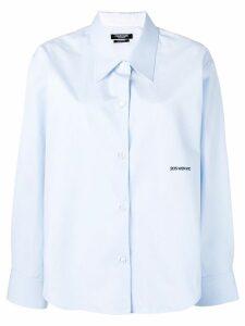 Calvin Klein 205W39nyc embroidered logo shirt - Blue
