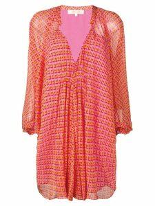 Diane von Furstenberg diamond print blouse dress - Pink
