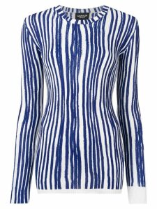 Calvin Klein 205W39nyc striped knitted jumper - Blue
