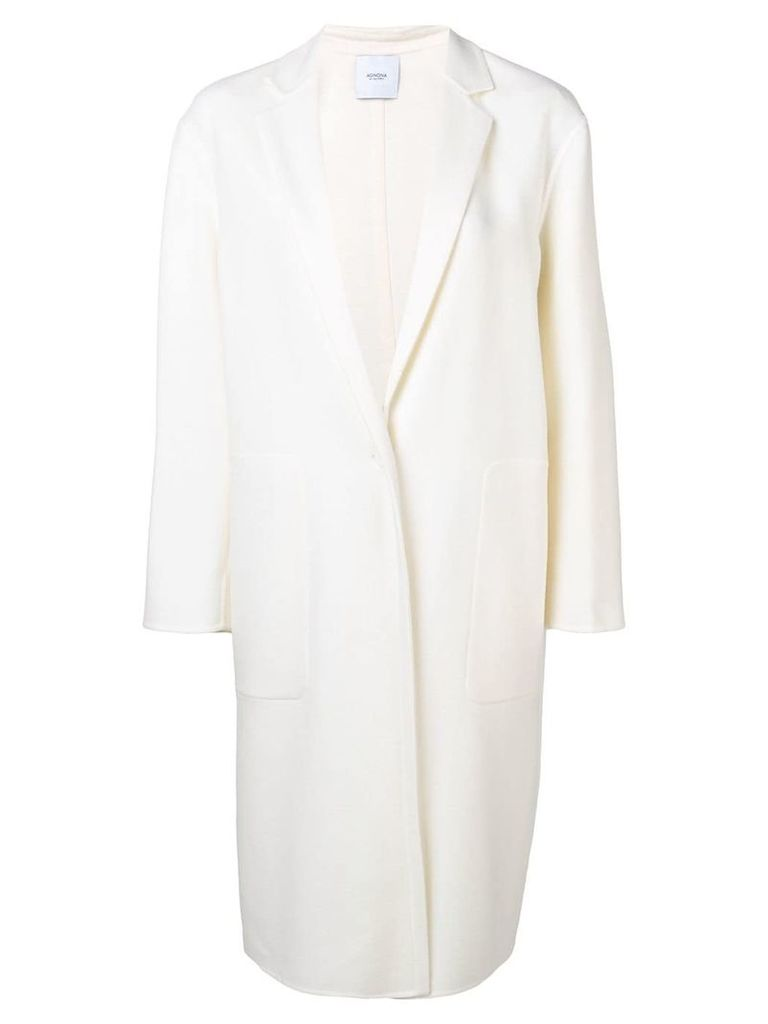 Agnona single breasted coat - Neutrals