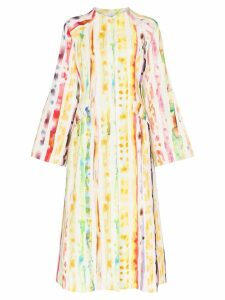 Rosie Assoulin Watercolour effect coat dress - 925-Multi Watercolor