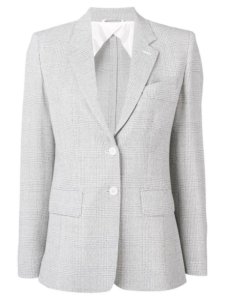 Max Mara checked blazer - White