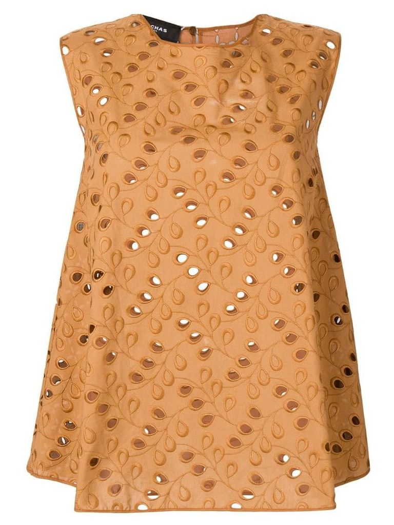Rochas embroidered blouse - Brown