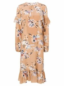 Rochas midi flared dress - Brown