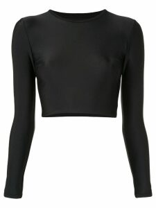 Matteau cropped sun top - Black
