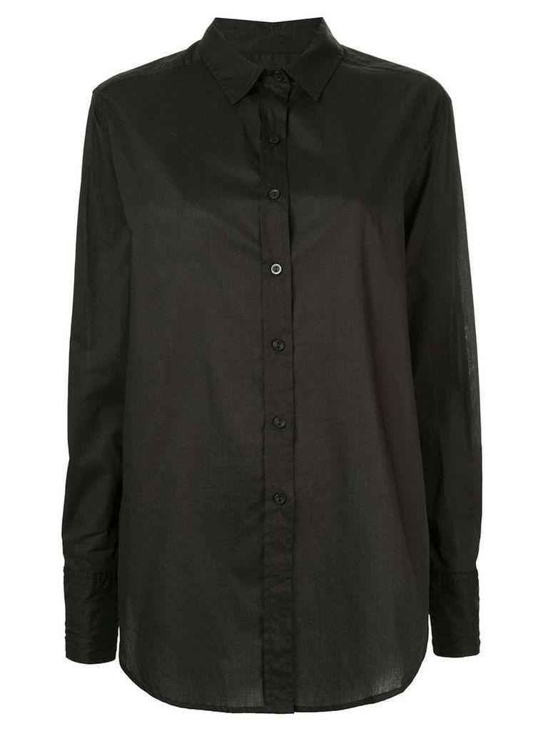 Matteau curved hem shirt - Black