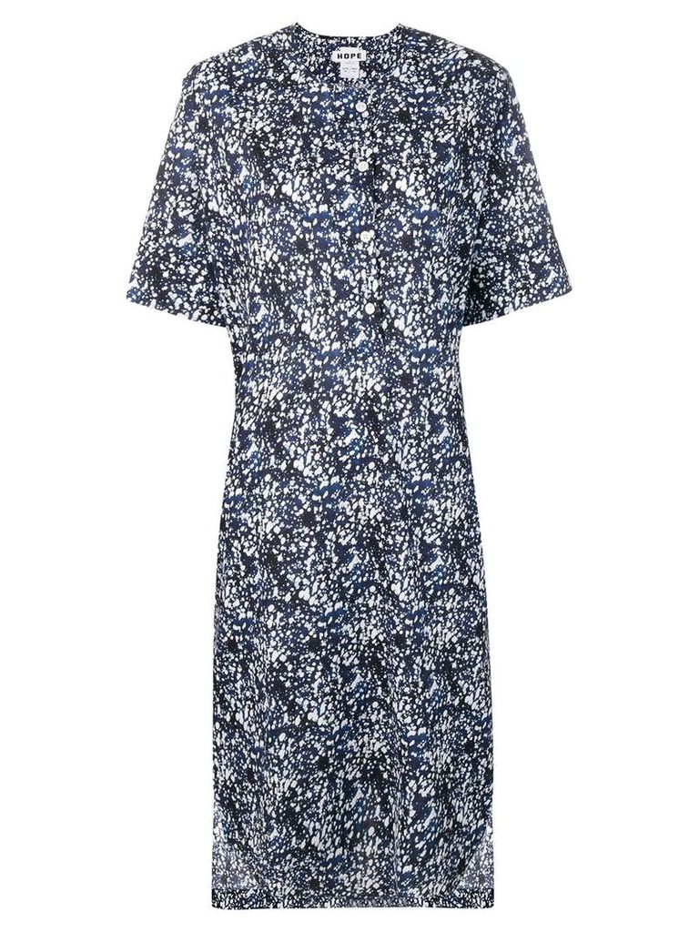 Hope splatter-print dress - Blue