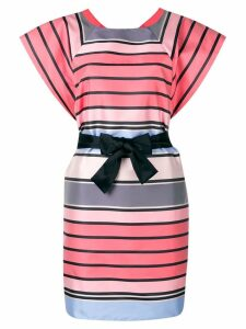 Emporio Armani striped belted dress - Pink