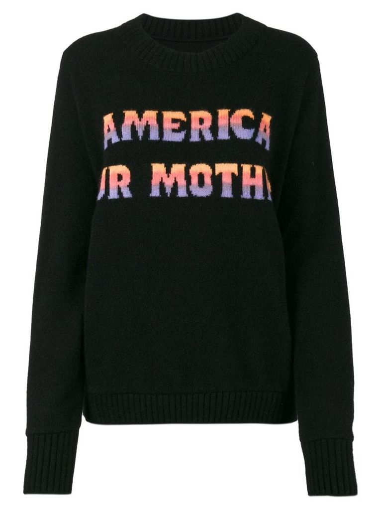 The Elder Statesman America Our Mother Jumper - Black