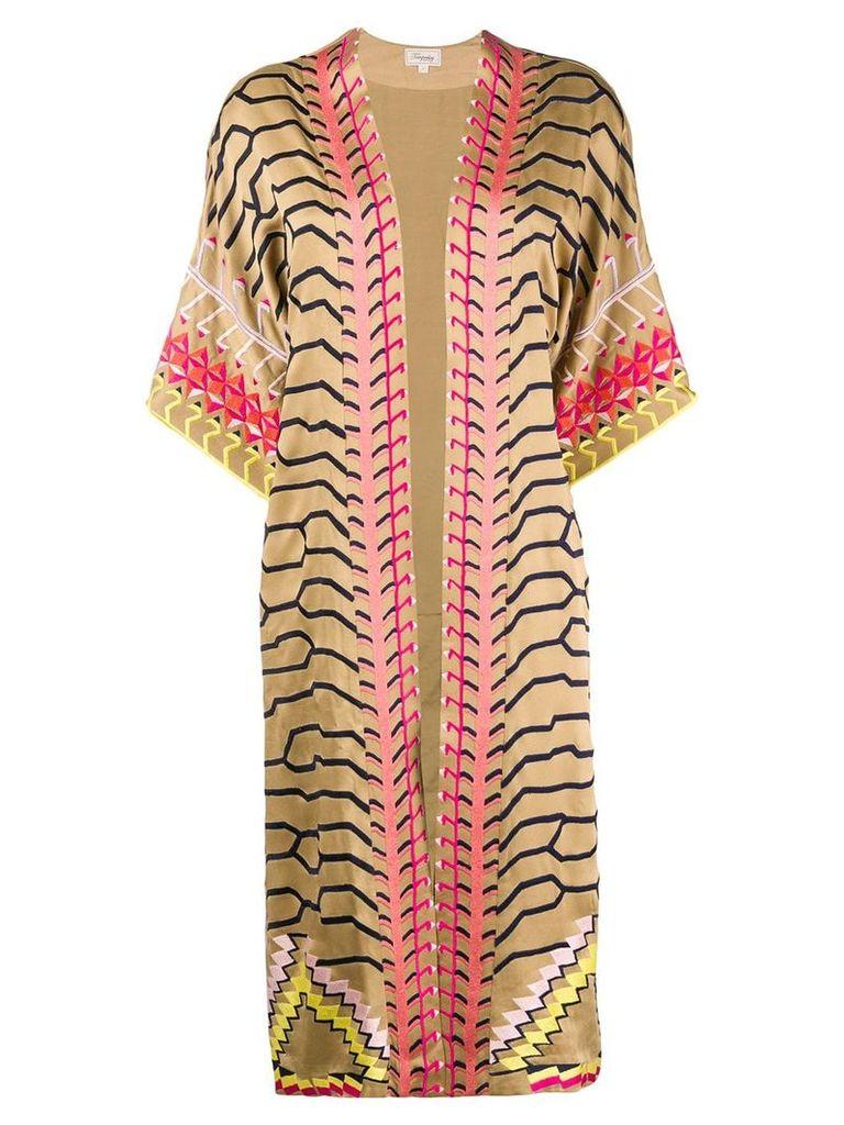 Temperley London Traveller kimono - Neutrals